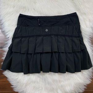Lululemon Black Run Pace Setter Skirt / Skort